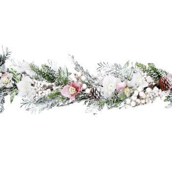 Pale Pink Hellebore and Fir Wreath