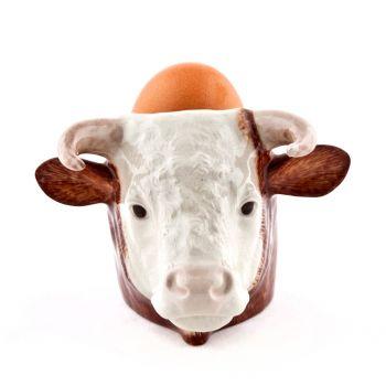 Hereford Bull Face Egg Cup Quail Ceramics