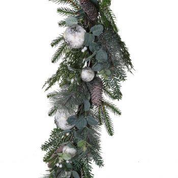 Mercury Glass Bauble Christmas Garland