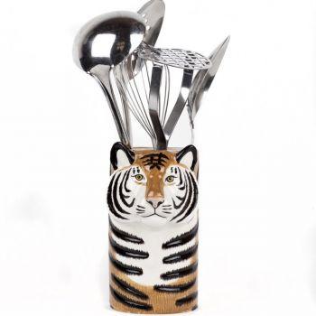 Tiger Utensil Pot Quail Ceramcis