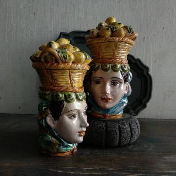 spanish ceramics lemons lady head agata treasures
