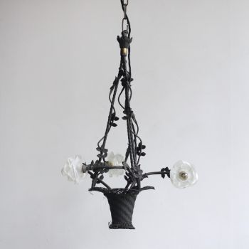 Floral Basket Chandelier