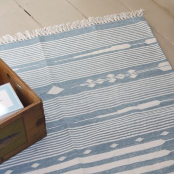 Blue Cotton Rug Sarah K