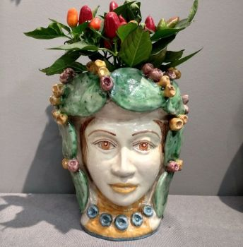 spanish ceramic vase head, agata treasures