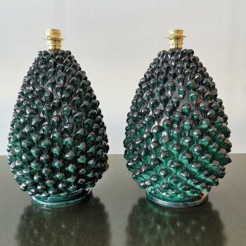 Handmade Ceramic Pietro Pinecone Lamp