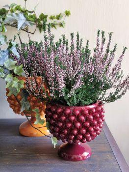 bordeaux raspberry pine cone vase agata treasures