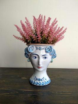 head vase blue and white agata treasures