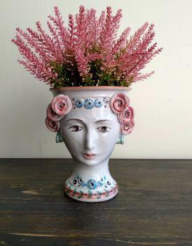 head vase pink agata treasures