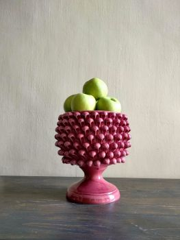 pink pine cone vase agata treasures