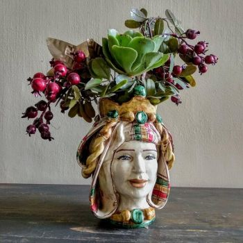 Febronia Head Vase, Agata Treasues Spanish Ceramics