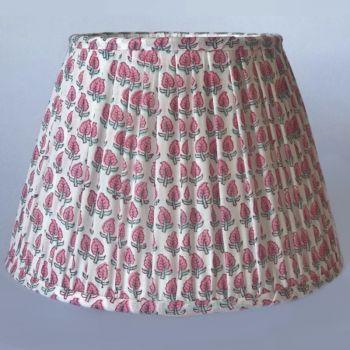Indian Cotton Empire Lampshade Flower Block Print