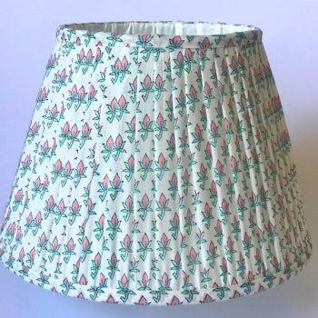 Indian Cotton Empire Lampshade Pink Lotus Flower Block Print
