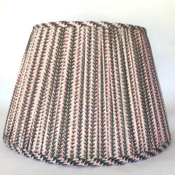 Indian Cotton Empire Lampshade Savista Stripe Block Print