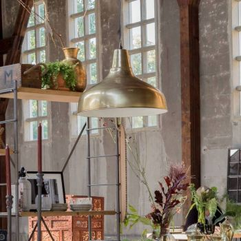 Industrial Large Pendant Light Antique