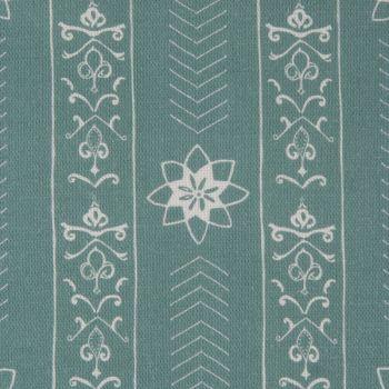 'Valencia' Floral Leaf Designer Fabric in Teal