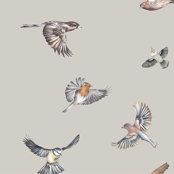 Juliet Travers Earlybird Wallpaper Stone Main