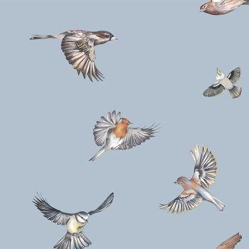 Juliet Travers Earlybird Wallpaper blue Main