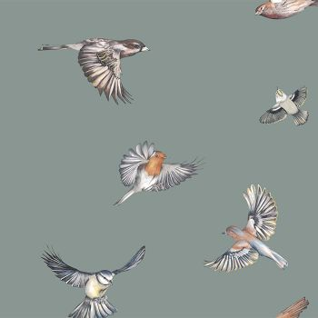 Juliet Travers Earlybird Wallpaper Green