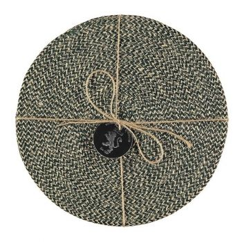 Jute Placemats Olive Green Fibre Dining Serving Mats Tableware