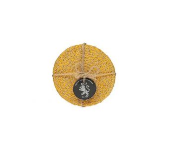 Jute Coasters In Indian Yellow