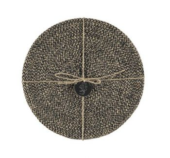 Jute Placemats In Jet Black