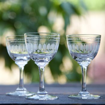 Set of 6 'Ovals' Liqueur Glasses
