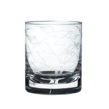A Pair of Whiskey Glasses with 'Fern' Design