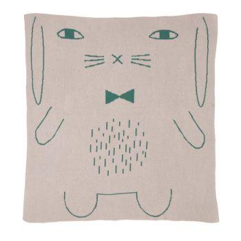 Lambswool Cotton Soft Baby Blanket Rabbit Pink