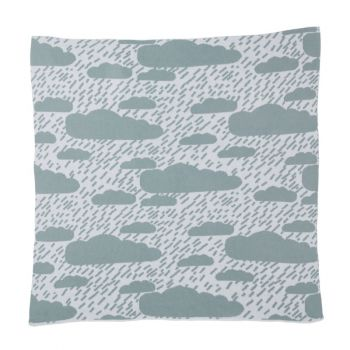 Lambswool Cotton Soft Baby Blanket Rain Clouds Blue