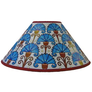 Carnations Lampshade in Red & Turqoise