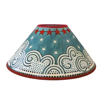 """Clouds & Stars 14"""" Lampshade"""