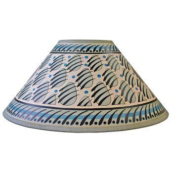 Blue & Grey Paw Print Lampshade