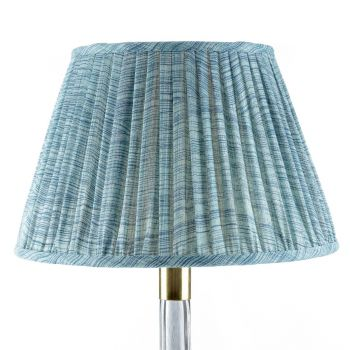 Bespoke Wave Lampshade in Azure Blue