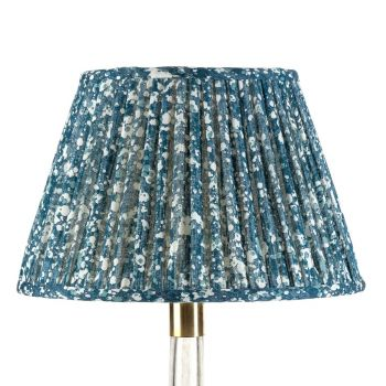 Bespoke Quartz Lampshade in Blue