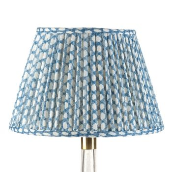 Bespoke Wicker Lampshade in Blue