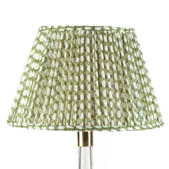 Bespoke Wicker Lampshade in Green