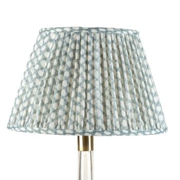 Bespoke Wicker Lampshade in Light Blue