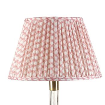 Bespoke Wicker Lampshade in Pink