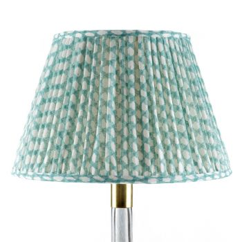 Bespoke Wicker Lampshade in Turquoise
