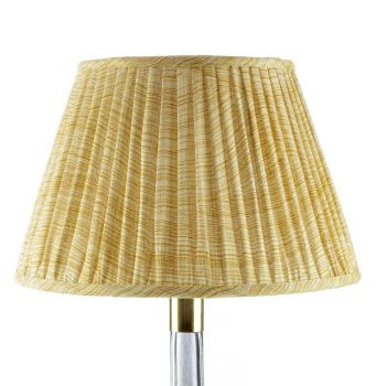 Bespoke Wave Lampshade in Yellow