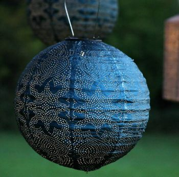 Blue Moroccan Solar Lantern