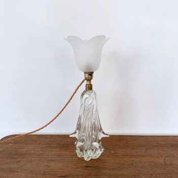 Large Art Deco 1930s French Crystal Lamp