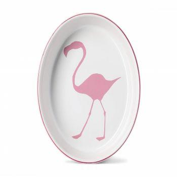 Large Oval Flamingo Oven Dish