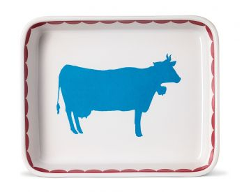 large oven dish with cow design gertrude alcie peto