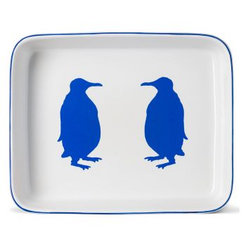 Large Penguin Rectangular Oven Dish