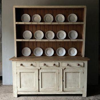Large English Painted Pine Dresser