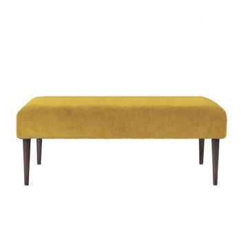 Large Retro Classic Linen Footstool Coffee Table