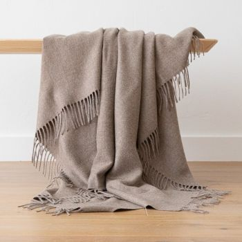 Latte Baby Alpaca Throw