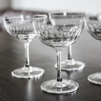 Set of 6 'Lens' Champagne Glasses