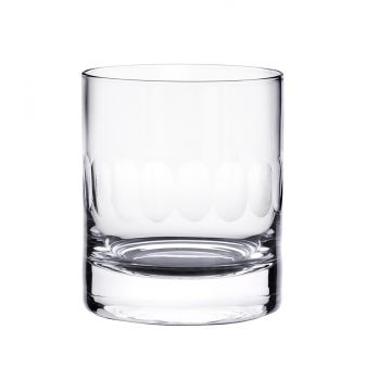 The Vintage List Crystal Lens Whiskey Glass